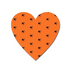 Funny Halloween   Spider Pattern Heart Magnet