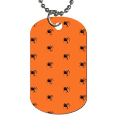 Funny Halloween   Spider Pattern Dog Tag (One Side)