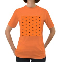 Funny Halloween   Spider Pattern Women s Dark T Shirt by MoreColorsinLife