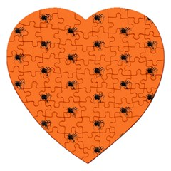 Funny Halloween   Spider Pattern Jigsaw Puzzle (Heart)