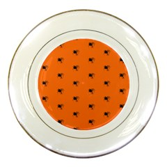 Funny Halloween   Spider Pattern Porcelain Plates