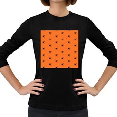Funny Halloween   Spider Pattern Women s Long Sleeve Dark T-Shirts