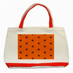 Funny Halloween   Spider Pattern Classic Tote Bag (Red)