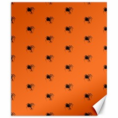 Funny Halloween   Spider Pattern Canvas 8  x 10