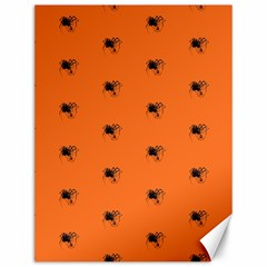 Funny Halloween   Spider Pattern Canvas 12  x 16