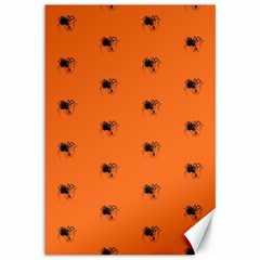 Funny Halloween   Spider Pattern Canvas 12  x 18