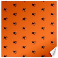 Funny Halloween   Spider Pattern Canvas 16  x 16