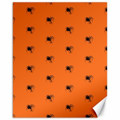 Funny Halloween   Spider Pattern Canvas 16  x 20