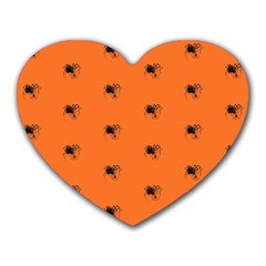 Funny Halloween   Spider Pattern Heart Mousepads