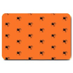 Funny Halloween   Spider Pattern Large Doormat  by MoreColorsinLife