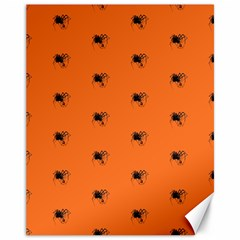 Funny Halloween   Spider Pattern Canvas 11  x 14