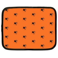 Funny Halloween   Spider Pattern Netbook Case (Large)