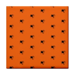 Funny Halloween   Spider Pattern Face Towel