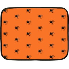Funny Halloween   Spider Pattern Double Sided Fleece Blanket (mini)  by MoreColorsinLife