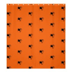 Funny Halloween   Spider Pattern Shower Curtain 66  x 72  (Large)