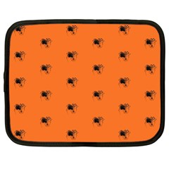 Funny Halloween   Spider Pattern Netbook Case (xxl)  by MoreColorsinLife