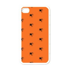 Funny Halloween   Spider Pattern Apple iPhone 4 Case (White)