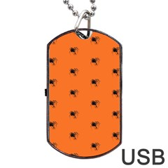 Funny Halloween   Spider Pattern Dog Tag USB Flash (One Side)