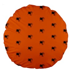 Funny Halloween   Spider Pattern Large 18  Premium Round Cushions