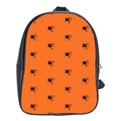 Funny Halloween   Spider Pattern School Bags (XL)