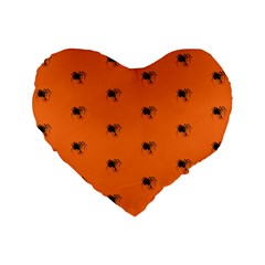 Funny Halloween   Spider Pattern Standard 16  Premium Heart Shape Cushions