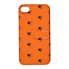 Funny Halloween   Spider Pattern Apple iPhone 4/4S Hardshell Case with Stand