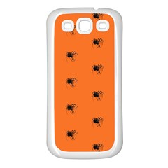 Funny Halloween   Spider Pattern Samsung Galaxy S3 Back Case (White)