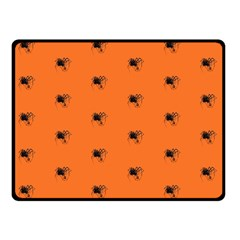 Funny Halloween   Spider Pattern Double Sided Fleece Blanket (Small)