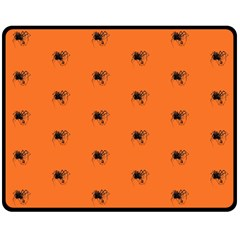 Funny Halloween   Spider Pattern Double Sided Fleece Blanket (Medium)