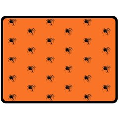 Funny Halloween   Spider Pattern Double Sided Fleece Blanket (Large)