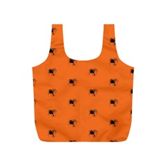 Funny Halloween   Spider Pattern Full Print Recycle Bags (S)