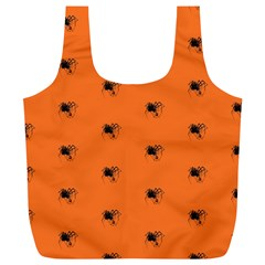 Funny Halloween   Spider Pattern Full Print Recycle Bags (L)