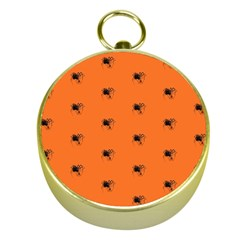 Funny Halloween   Spider Pattern Gold Compasses