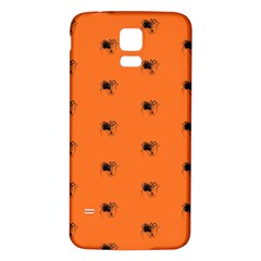 Funny Halloween   Spider Pattern Samsung Galaxy S5 Back Case (White)