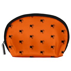 Funny Halloween   Spider Pattern Accessory Pouches (Large)