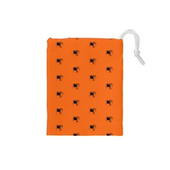 Funny Halloween   Spider Pattern Drawstring Pouches (Small)