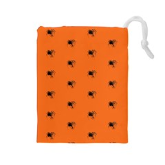 Funny Halloween   Spider Pattern Drawstring Pouches (Large)