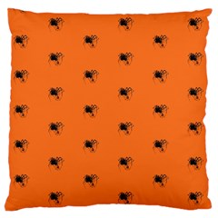 Funny Halloween   Spider Pattern Large Flano Cushion Case (One Side)