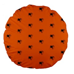 Funny Halloween   Spider Pattern Large 18  Premium Flano Round Cushions