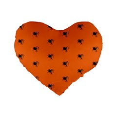 Funny Halloween   Spider Pattern Standard 16  Premium Flano Heart Shape Cushions