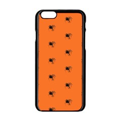 Funny Halloween   Spider Pattern Apple iPhone 6/6S Black Enamel Case