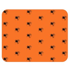 Funny Halloween   Spider Pattern Double Sided Flano Blanket (Medium)