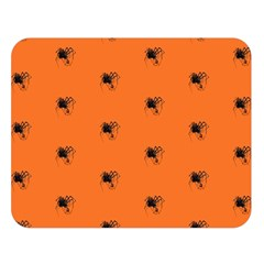Funny Halloween   Spider Pattern Double Sided Flano Blanket (Large)