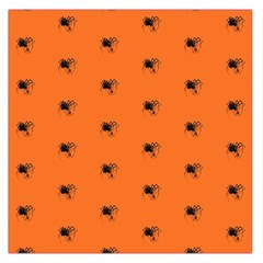 Funny Halloween   Spider Pattern Large Satin Scarf (Square)