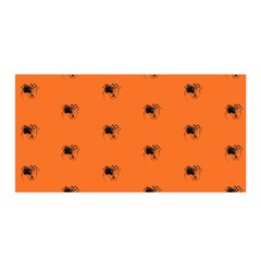 Funny Halloween   Spider Pattern Satin Wrap