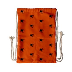 Funny Halloween   Spider Pattern Drawstring Bag (Small)