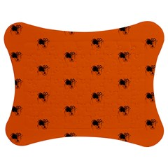 Funny Halloween   Spider Pattern Jigsaw Puzzle Photo Stand (Bow)