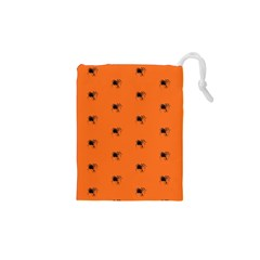 Funny Halloween   Spider Pattern Drawstring Pouches (XS)