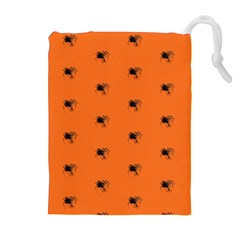 Funny Halloween   Spider Pattern Drawstring Pouches (Extra Large)