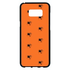 Funny Halloween   Spider Pattern Samsung Galaxy S8 Plus Black Seamless Case